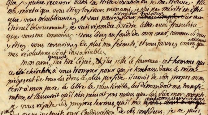Papiers d'époque révolutionnaire et impériale passés en vente publique en France (1er semestre 2015)