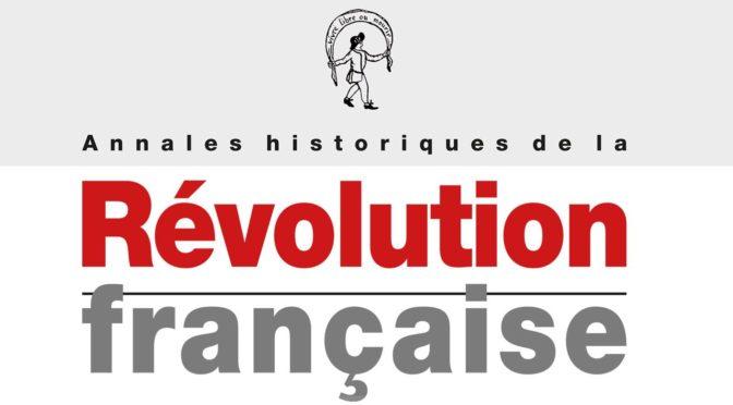 PARUTION DU N° 387 DES AHRF : «La Révolution française comme modèle et miroir (URSS, Chine, Japon)»